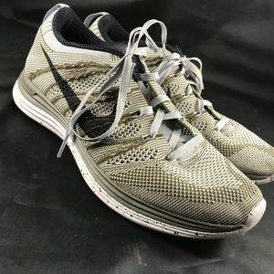 Nike Flyknit Lunar 1 Grey Olive Womens 8.5 40 EUR